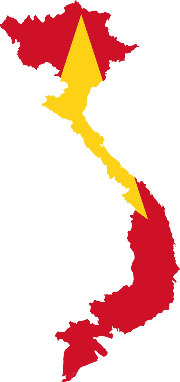 720x1529 Vietnam Flag Vector Clip Art