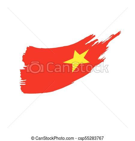450x470 Vietnam Flag, Vector Illustration On A White Background Clip Art
