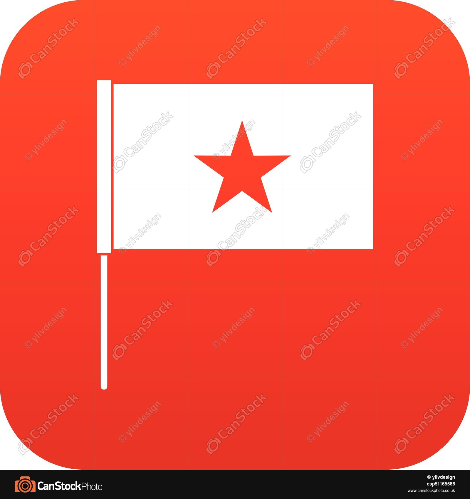 1600x1700 Vietnam Flag Icon Digital Red For Any Design Isolated On Vector
