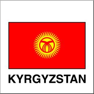 304x304 Clip Art Flags Kyrgyzstan Color I Abcteach