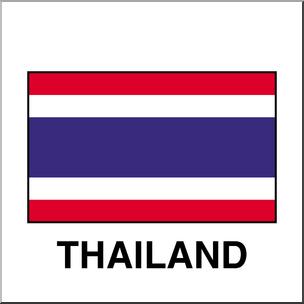 304x304 Clip Art Flags Thailand Color I Abcteach
