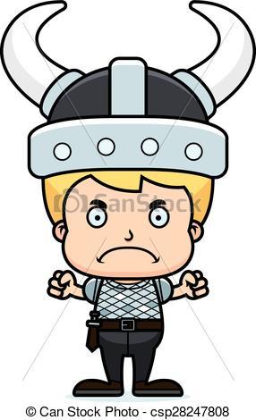 286x470 Cartoon Angry Viking Boy. A Cartoon Viking Boy Looking Vector