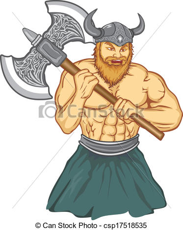 373x470 Viking With An Ax Preparing For Battle Vectors