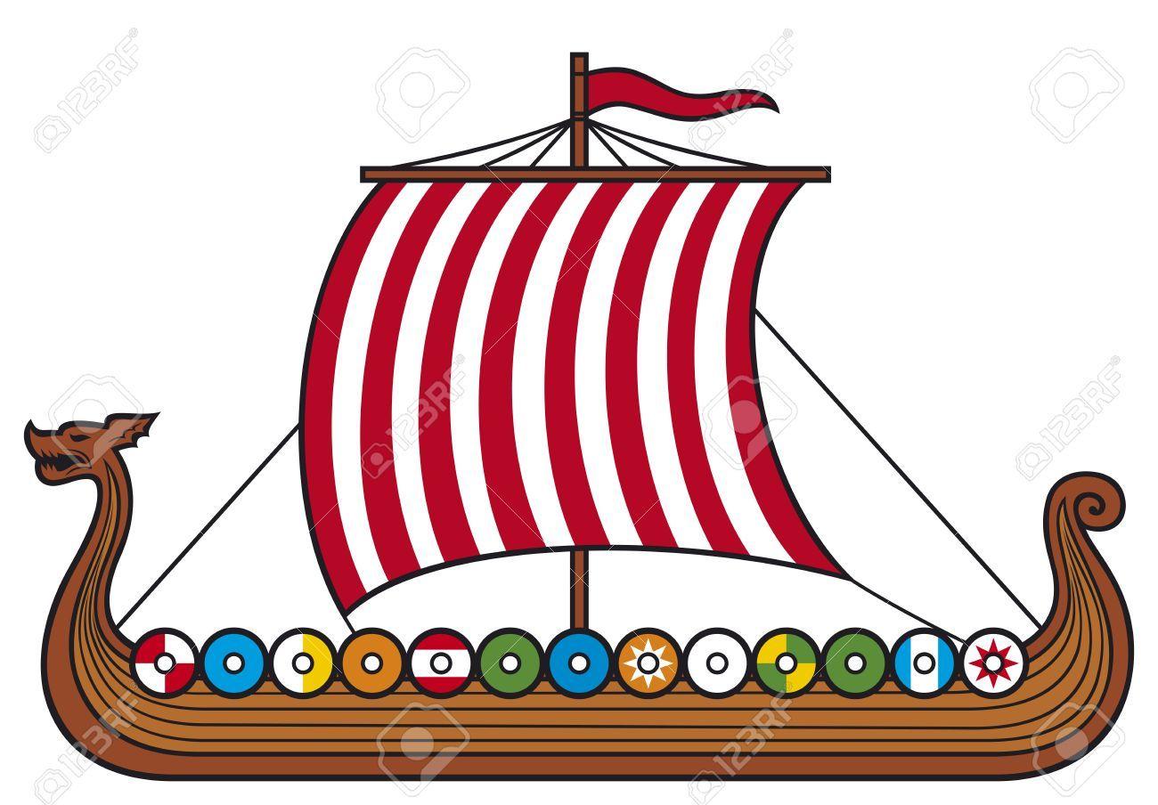 1300x904 Viking Ship Clip Art Free