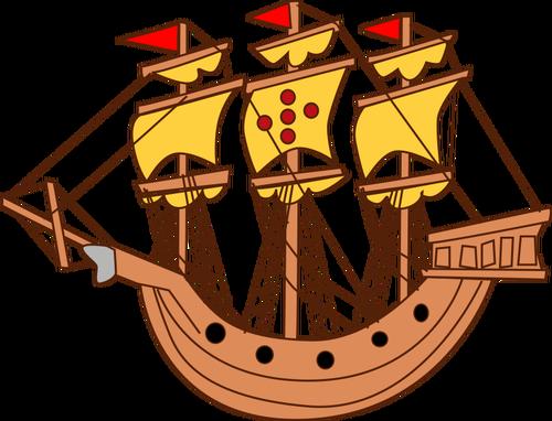 500x382 7345 Sailing Ship Silhouette Clip Art Public Domain Vectors