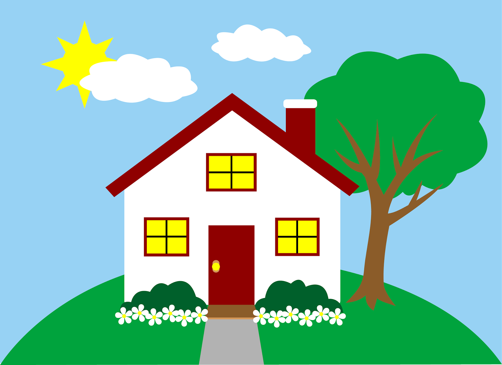 1600x1163 Village House Clipart House Clipart