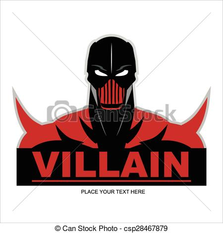 450x470 Great Red Villain Isolated On Red Background. Half Body