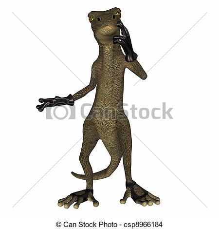 450x470 Salamander The Villain. Illustration Of An Evil Salamander