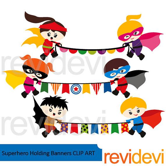 570x570 Superhero Clipart Sale Superhero Holding Bunting Banners