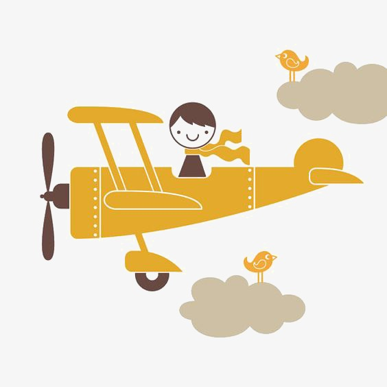 564x564 Cartoon Retro Airplane, Cartoon Airplane, Vintage Aircraft, Pilot