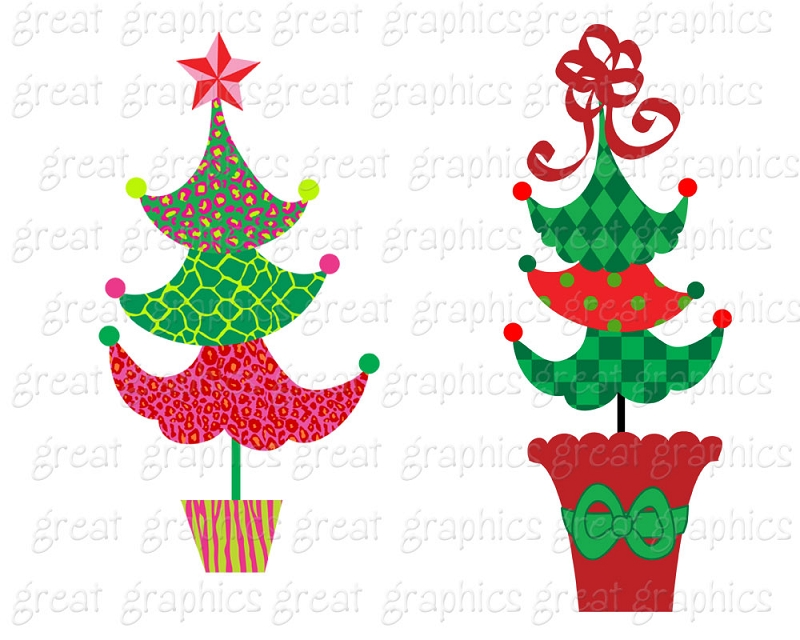 800x640 Free Funky Christmas Clipart