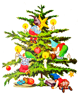 277x343 Collection Of Vintage Christmas Tree Clip Art High Quality