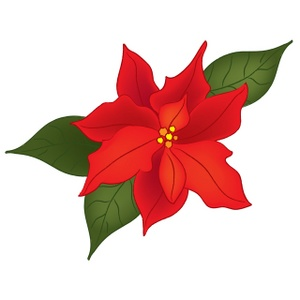 300x300 Vintage Christmas Flower Holly And Berries Image Floral Clipart