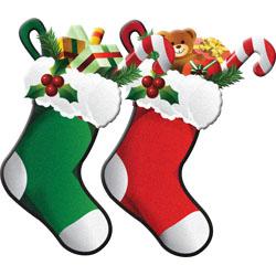 250x250 Vintage Christmas Stocking Clip Art AEUR Merry Amp Happy New