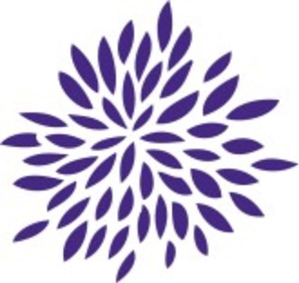 600x567 Dark Purple Flowers Clip Art