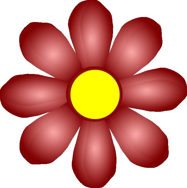 594x597 Maroon Flower Clip Art