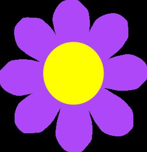291x300 Purple Flower Clip Art