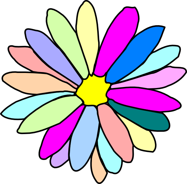 600x590 Purple Flower Clipart Bloom Pencil And In Color Clip Art