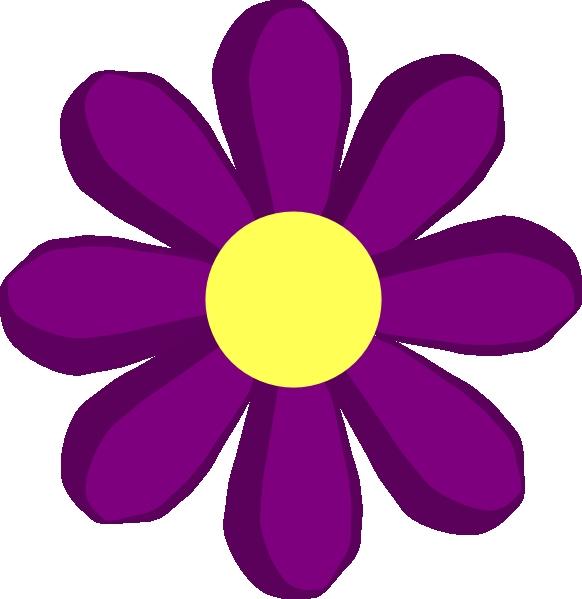 582x599 Spring Flower Clipart Images Purple Spring Flower Clip Art
