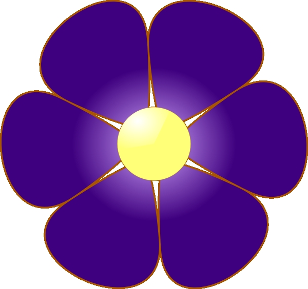 600x564 Violet Flower Clipart Violet Flower Clip Art At Clker Vector Clip