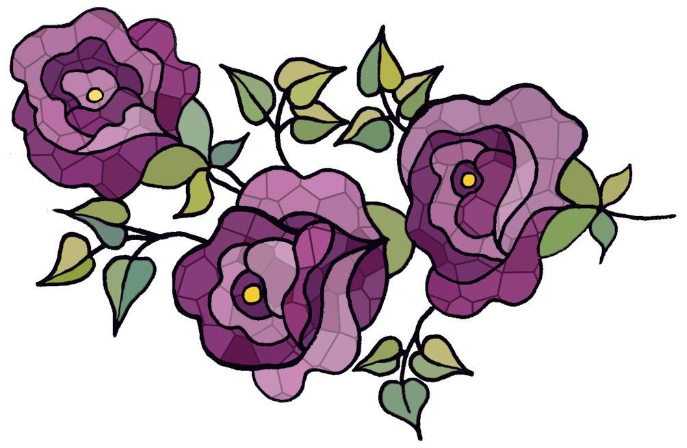 1004x655 Artbyjean Clipart Violet Flower Flower Prints Crafty Clip Art