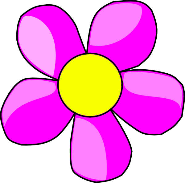 600x594 Clip Art Flowers Purple Flower 2 Clip Art Diy