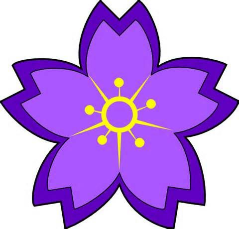 480x460 Purple Flower Clipart