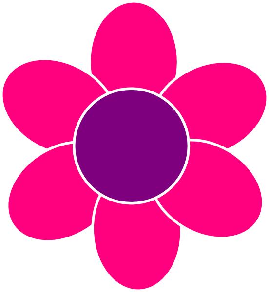 552x600 Pink Flower Clip Art Clipartlook