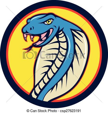 450x470 Cobra Viper Snake Head Attacking Ci. Illustration Of A Cobra
