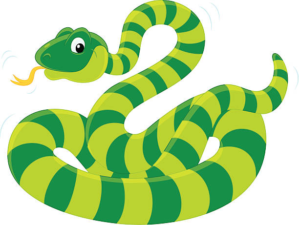 612x461 Smooth Green Snake Clipart Illustrated