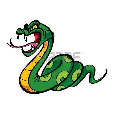 450x450 Python Angry Snake Bite Clipart Panda