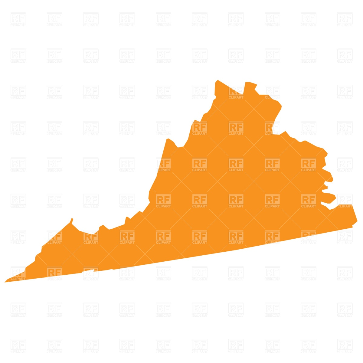 1200x1200 Virginia State Map Royalty Free Vector Clip Art Image