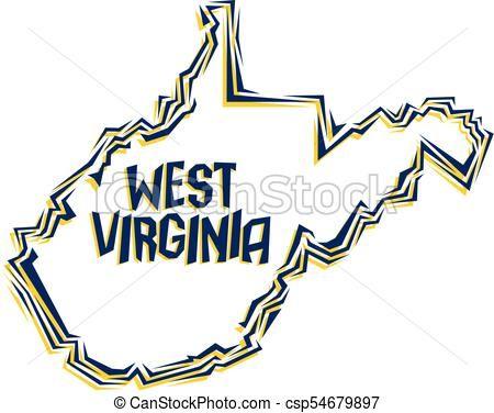 450x376 West Virginia Vector