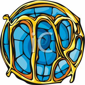 300x297 Clipart Image A Stained Glass Ornament For Virgo