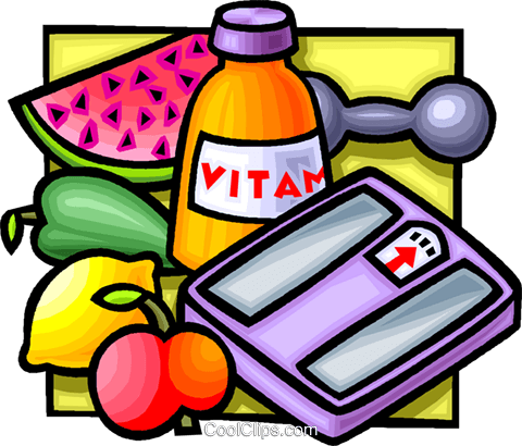 480x410 Health Foods And Vitamins Royalty Free Vector Clip Art