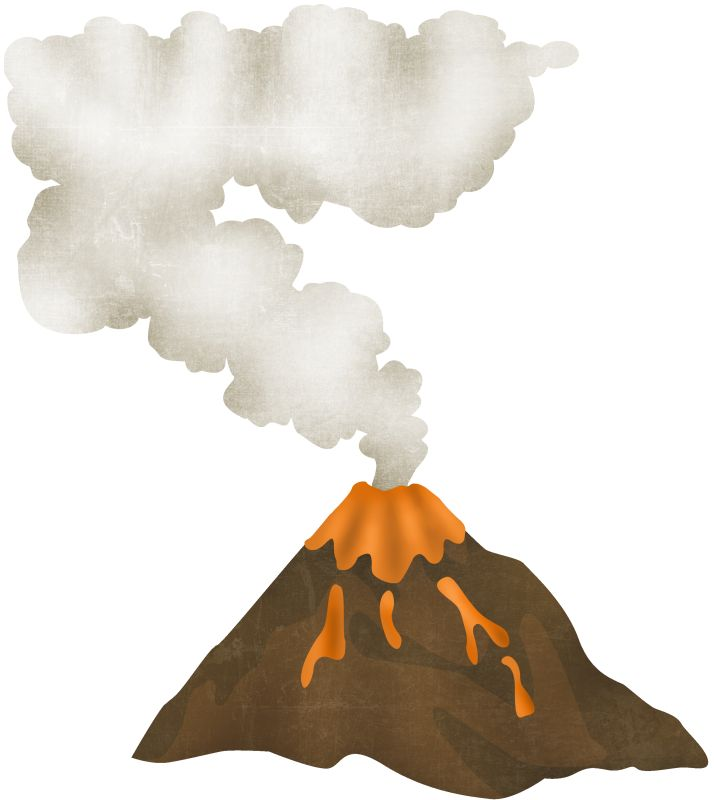 Volcano Eruption Clipart