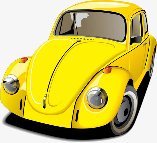 650x592 Yellow Convertible Illustration, Volkswagen, Beetle, Germany Png