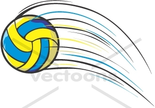 320x223 Volleyball Cartoon In Action