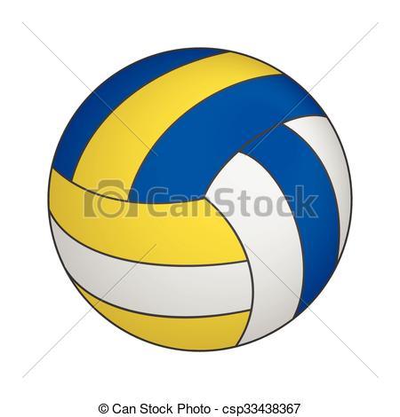 450x470 Volleyball 3d Isometric Icon Isolated On A White Background Clip