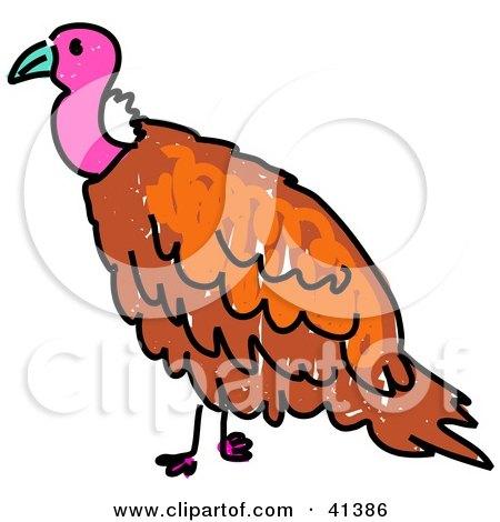 450x470 Clipart Of A Cartoon Vulture Bird
