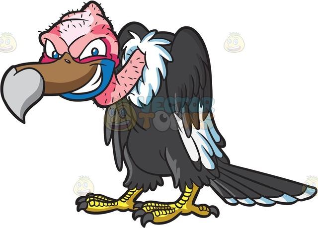 640x459 A Naughty Vulture Cartoon Clipart