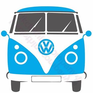 300x299 VW BLUE CAMPER VAN SPLIT SCREEN BUS VOLKSWAGEN T SHIRT S M L XL