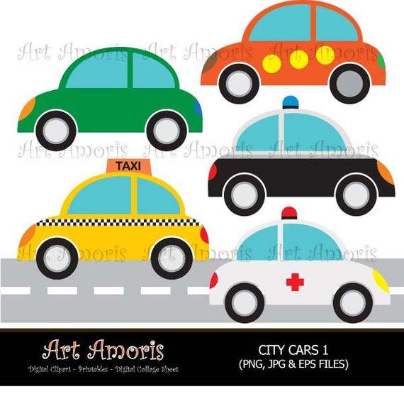 570x586 City Cars, Taxi, Ambulance, Police Car, Vw, Clipart, Digital Clip