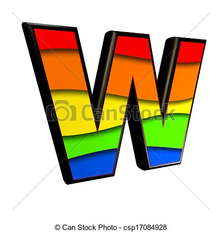 450x470 Letter With Rainbow Texture