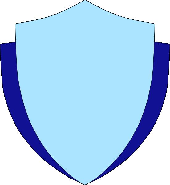 552x598 Sky Blue Shield Wflank Clip Art