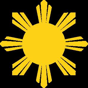 297x297 Sun W Rays Clip Art