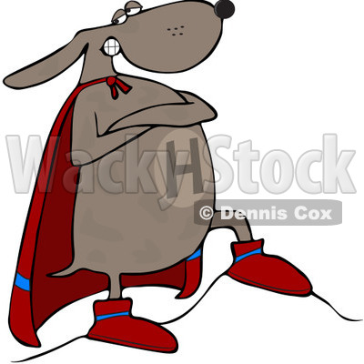400x400 Royalty Free (Rf) Clip Art Illustration Of A Super Dog Standing