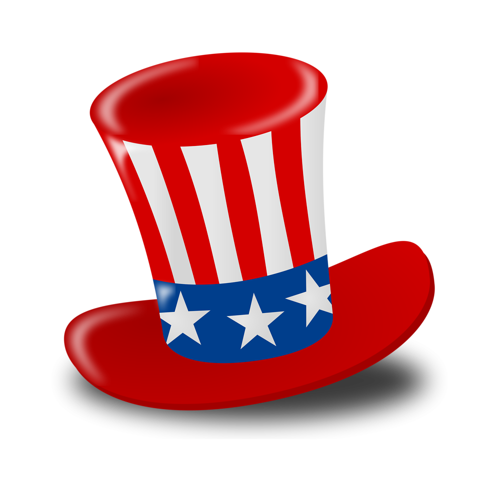 958x958 Wacky Hat Cartoons Illustration Of A 4th Of July Hat