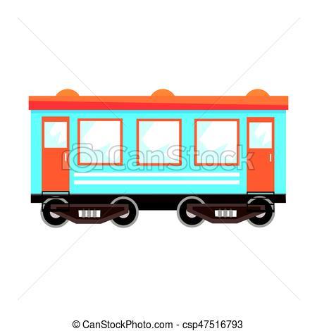 450x470 Railway Passenger Car Wagon, Railway Transportation . Eps
