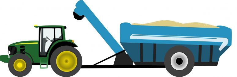 775x251 Tractor And Wagon Clipart